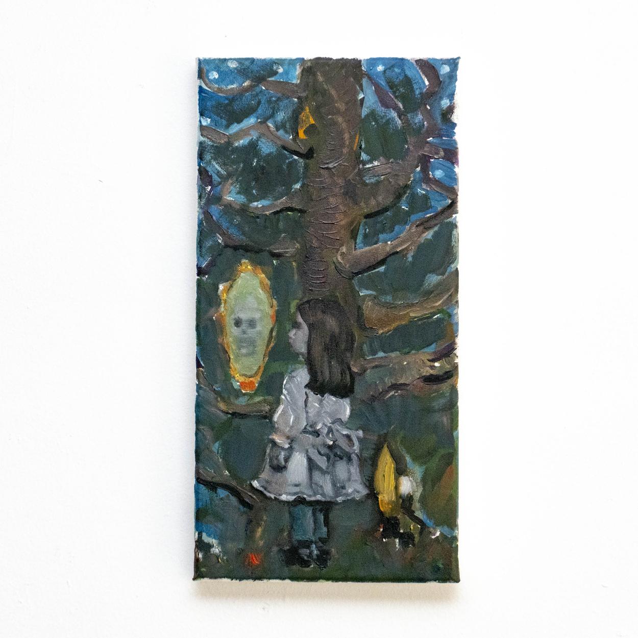 SLANGEN _ Mirror,Mirror, ..., 40x20cm, oil on canvas_VIERKANT