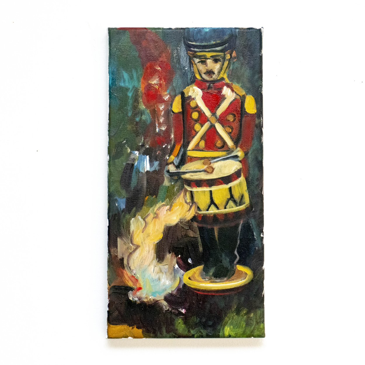 SLANGEN _ TheFlame-in-the-Drum,40x20cm,oil on canvas,2019_VIERKANT
