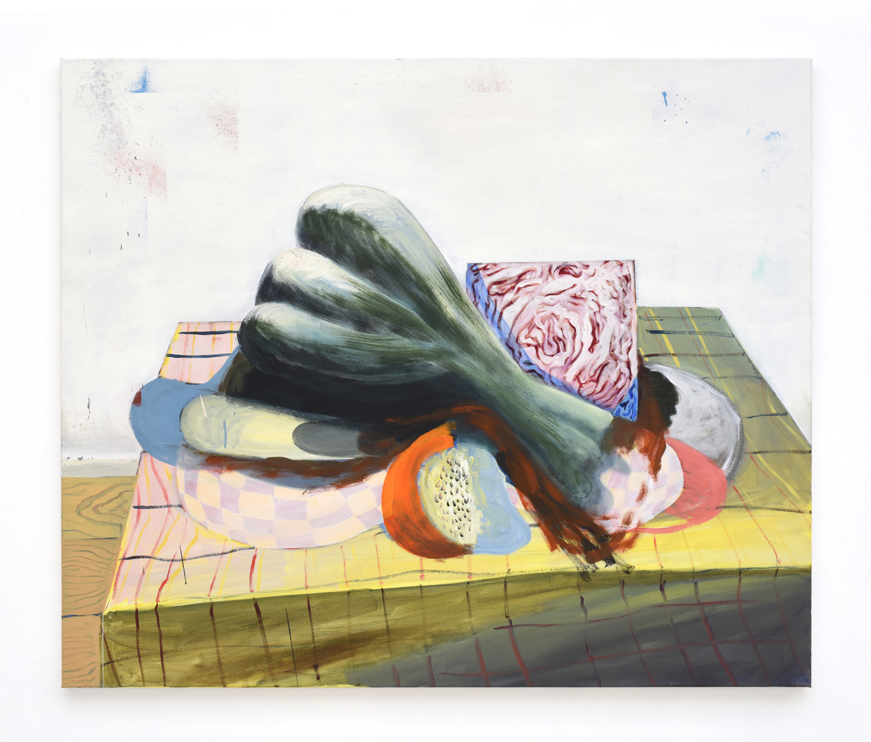 DECLERCQ - Still_Life_with_red_cabbage_and_jungle_fruit_2018_100x120cm