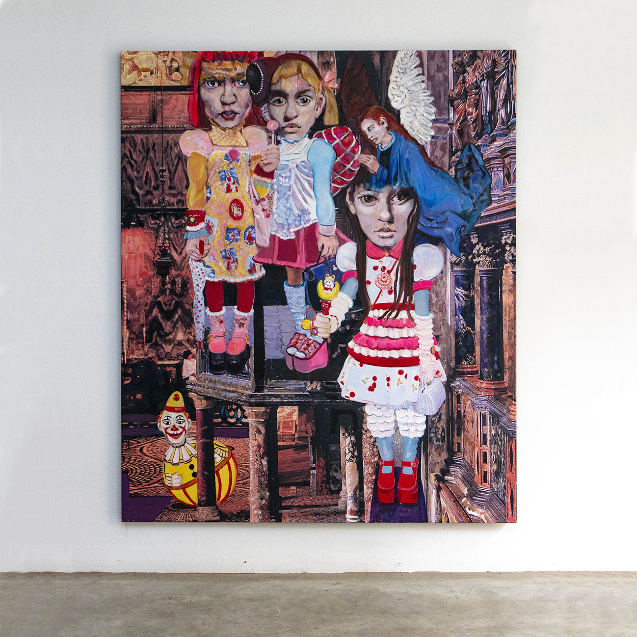 SLANGEN - Cosplay#10,180x150cm,acryl on collage print on canvas,2019_VIERKANT