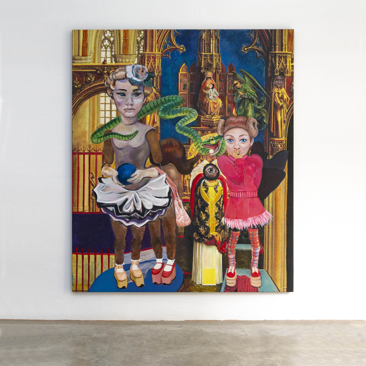 SLANGEN - Cosplay#9,180x150cm,acryl on collage print on canvas,2019_VIERKANT